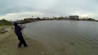 Flounder fishing in Galveston, Tx (Broken Bridge) 720p HD