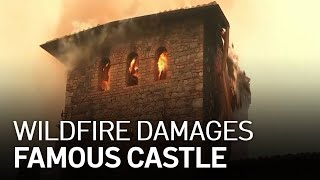 Flames Damage Napa Valley's Famed Castle Winery Castello di Amarosa