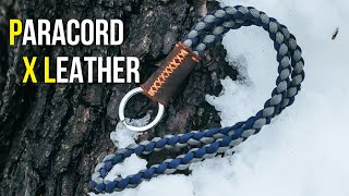 LEATHER X Braided Paracord Keychain Lanyard | TUTORIAL