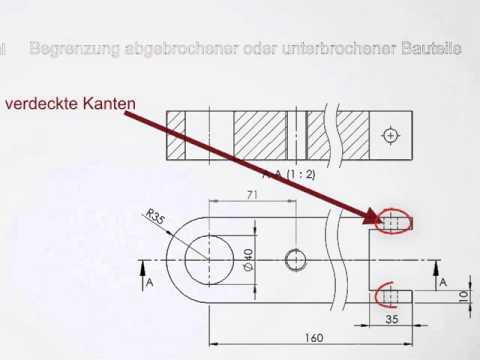 Linienarten In Technischen Zeichnungen