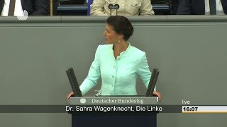 Dr. Sahra Wagenknecht - Völkerrechtswidriger Angriffskrieg gegen Syrien