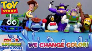 Color Changers Toy Story Splash Water toys Disney Pixar Colour Shifters Review by Blucollection