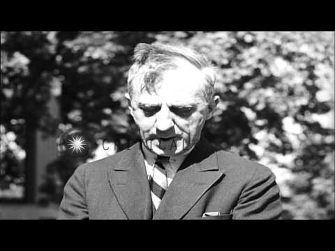 Smedley Butler Speaks About US Politics At Newtown Square In Pennsylvania HD Stock Footage
