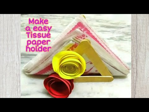 How To Make a Tissue Paper Holder  Easy DIY Craft 