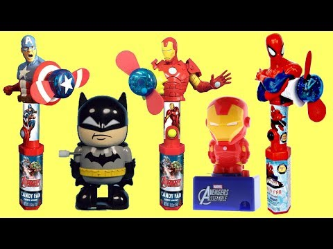 Superhero Sweets Fan Dispensers with Marvel Avengers