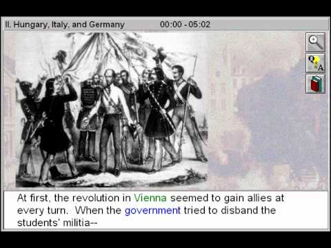 the revolution of 1848 in italy Re-assertion of dynastic / governmental authority.