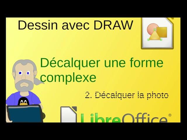 Décalquer une image avec LibreOffice Draw: travail sur la photo