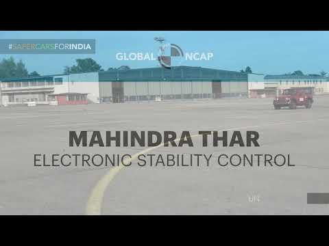 Global NCAP tested Thar's ESC according to UN regulation