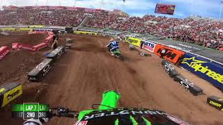 Supercross GoPro Shane McElrath Adam Cianciarulo Salt Lake City 2018