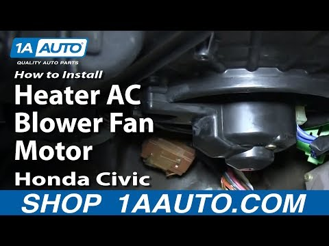 How to Replace Blower Motor with Fan Cage 92-00 Honda Civic