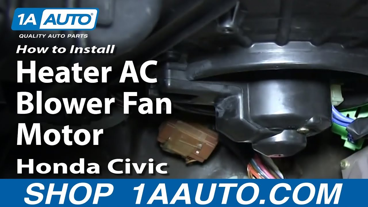 ac condenser fan motor wiring diagram of wind engine how to replace blower with cage 92-00 honda civic - youtube