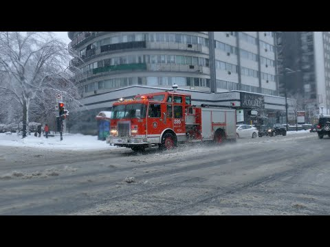 Pompiers en action | Montreal Fire Department | Fire trucks responding | 7X | Jan - Feb 2021