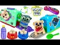 Best Learning Video for Kids Puppy Dog Pals Groom and Go Carriers Go to Vet
