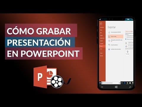 Cómo GRABAR un Video o una Presentación en Power Point