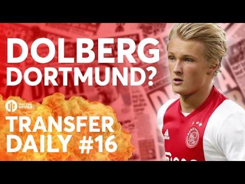Kasper Dolberg Dortmund Battle? Goncalo Guedes | Manchester United Transfer News | T Daily #16