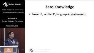 Efficient Zero Knowledge - Prof. Yehuda Lindell