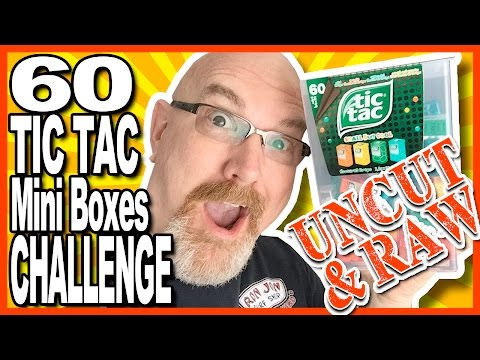 "60 TIC TAC Mini Boxes Challenge ""UNCUT & RAW!"" (YES! it's UNEDITED FOOTAGE!)"