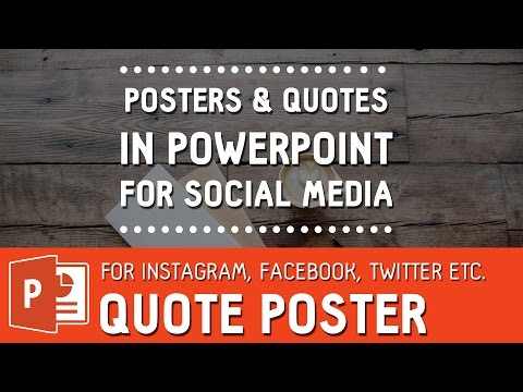 Viral Image quote poster for social media in Powerpoint | How to design instagram quote tutorial