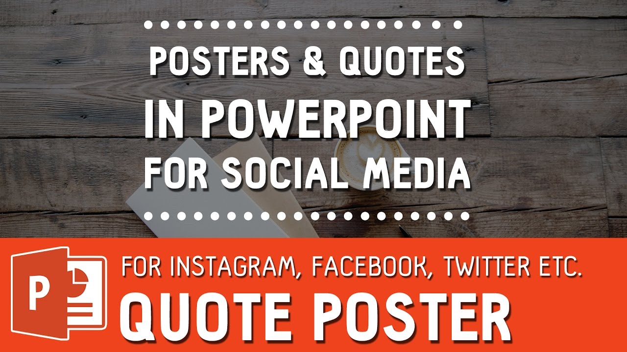 Viral Image Quote Poster For Social Media In Powerpoint How To