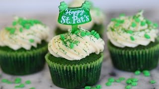 Green Velvet St Patrick's Day Cupcakes - Marcel Cocit -  Love At First Bite Episode 42