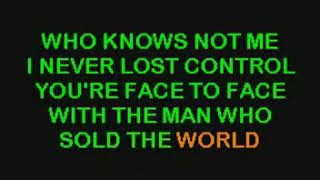 Nirvana The man who sold the world karaoke