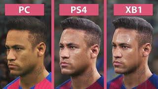 PES 2017 Pro Evolution Soccer 2017 PC vs. PS4 vs. Xbox One Graphics Comparison