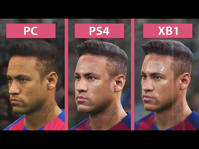 Pro Evolution Soccer 2017 - PC vs. PS4 vs. Xbox Comparação Gráfica