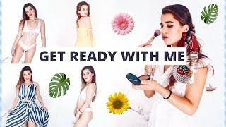 GET READY WITH ME - VERANO 2018: Rutina maquillaje + Looks Zaful | Museecoco