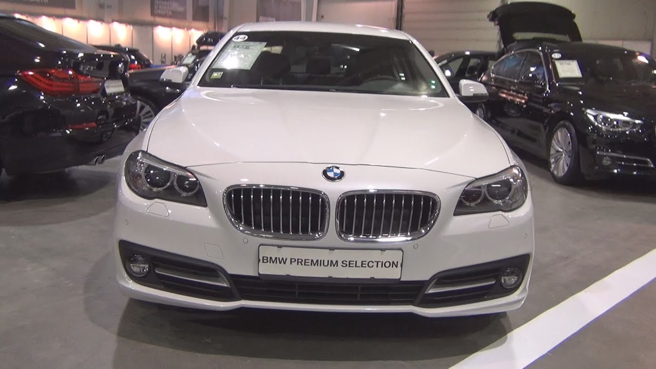 bmw 520d xdrive sedan mineral white (2015) exterior and interior