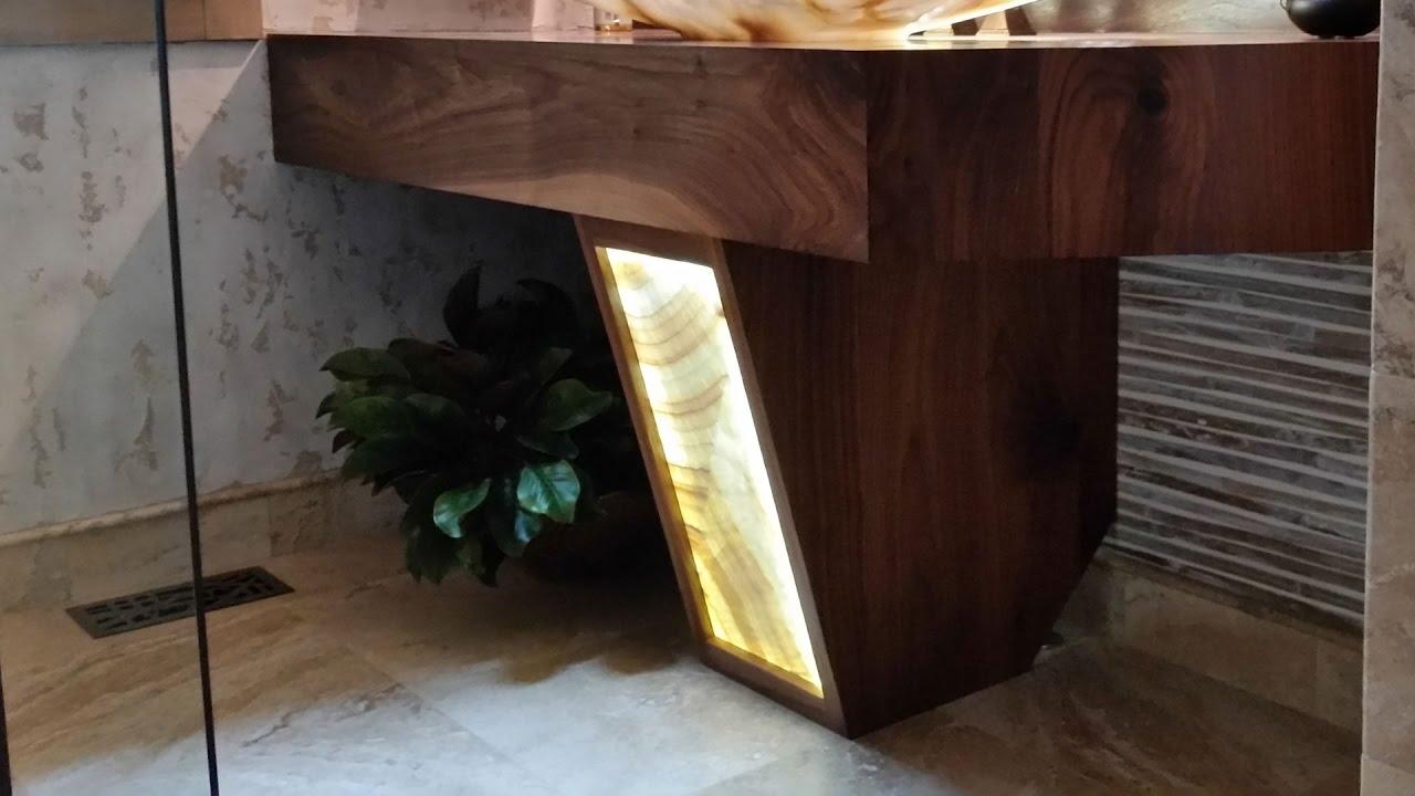 - Building A Walnut Pedestal With Backlit Onyx Using LEDs - YouTube