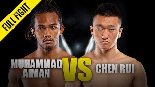 Muhammad Aiman vs. Chen Rui | ONE Full Fight | December 2019