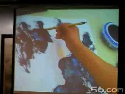 Zeng Gang teaches Chinese painting