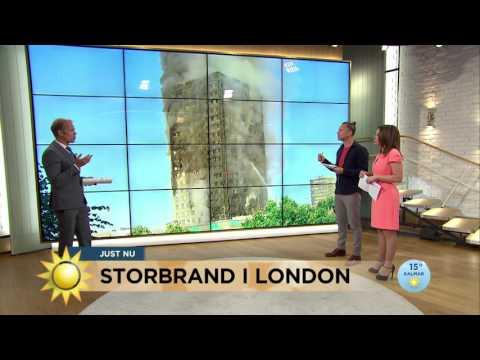 Storbrand rasar i London - Nyhetsmorgon (TV4)
