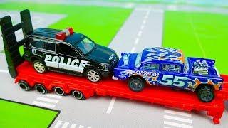 Мультик про машинки - 213 серия:  Полицейская погоня, Гоночная машина, Грузовик, Такси