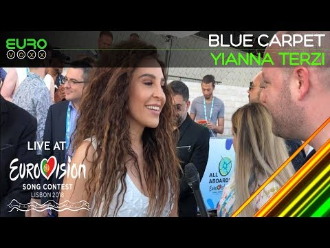 Yianna Terzi (Eurovision Blue Carpet interview) Greece Eurovision 2018