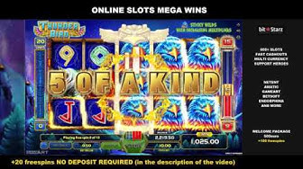 Thunder Bird x345 10$ Bet 3450$ Huge Win Online Slots GameArt BitStarz Online Casino