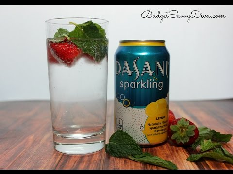Strawberry Mint & Lemon Sparkling Water Recipe