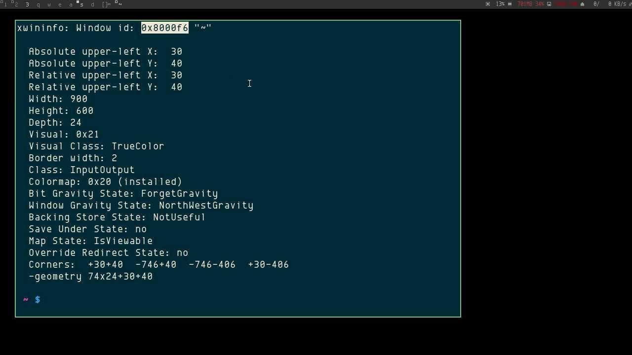 wmctrl linux