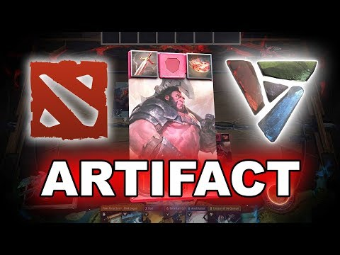Dota 2 ARTIFACT - FIRST GAMEPLAY!
