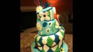 my frist topsy turvy cake