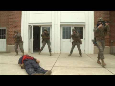 Embassy Security Marines Conduct Medical Training