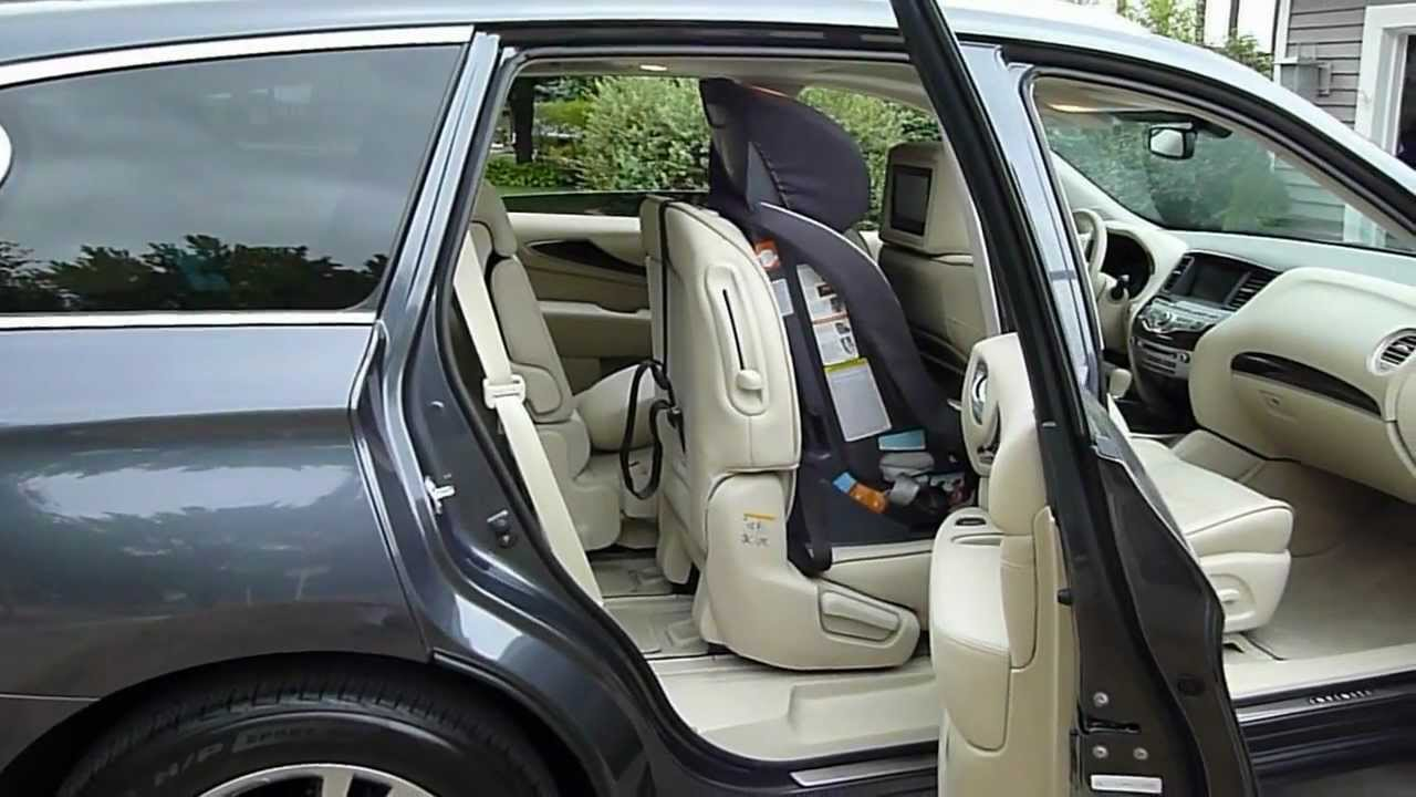2013 Infinity Jx35 Third Row Access With Carseat Youtube