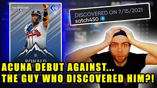 We debut *99* RONALD ACUNA JR. vs the guy who DISCOVERED HIM!