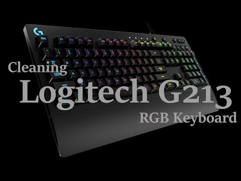 Cleaning Logitech G213 RGB Keyboard.
