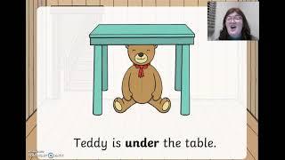 Where is Teddy   prepositional language