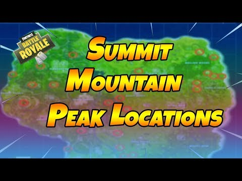 Summit Different Mountain Peaks - Fortnite Battle Royale (Week 6 Challenge)