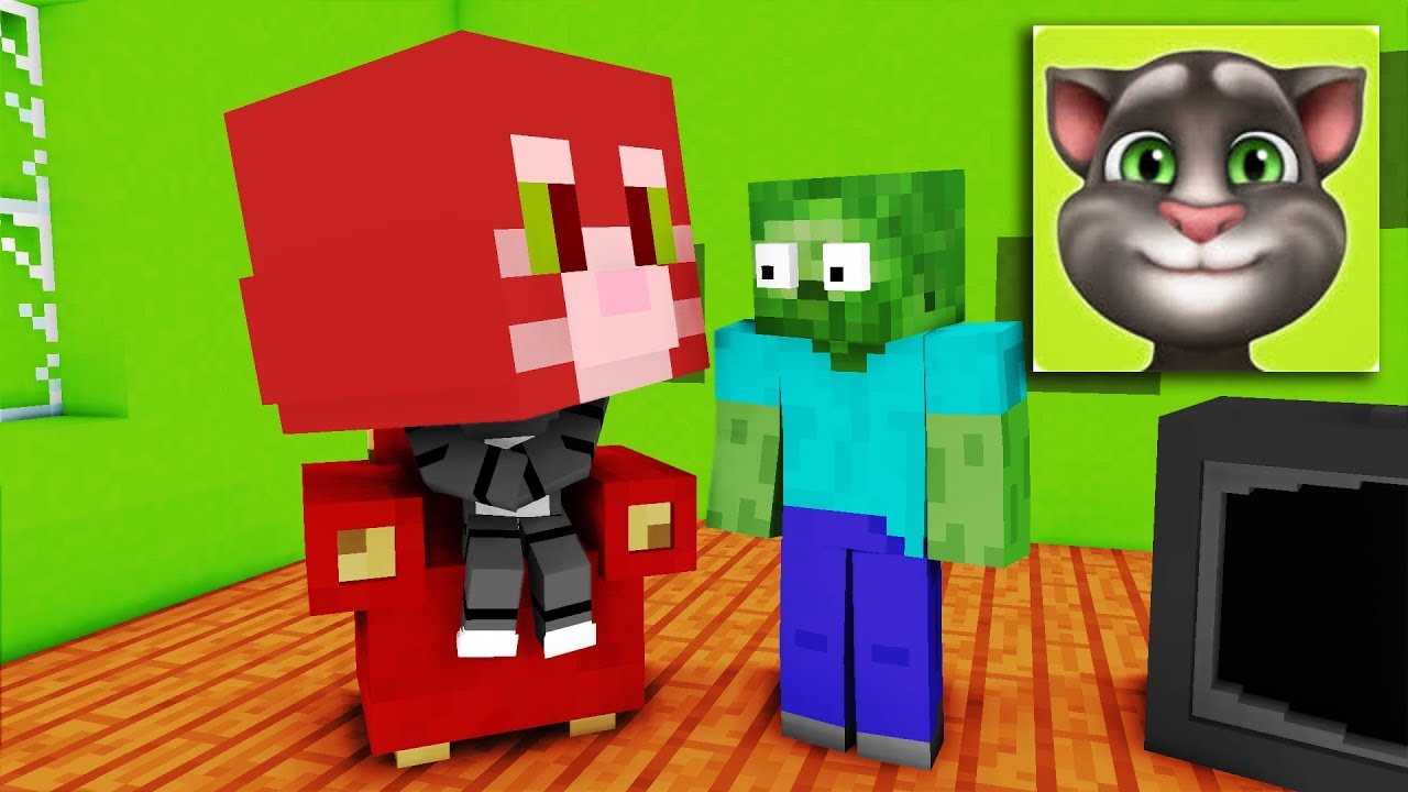 Talking Tom and Temple Run Challenge - Minecraft Animation