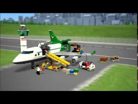 Lego City Lotnisko Terminal Towarowy 60022 Youtube