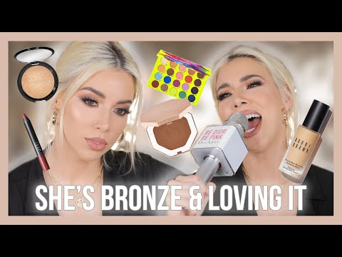 SUMMERY FUN BRONZED MAKEUP USING HELLA NEW PRODUCTS!