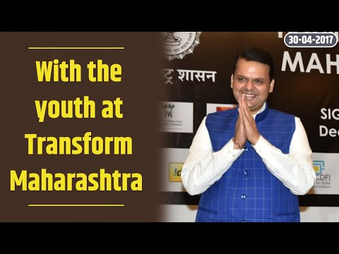 With the youth at Transform Maharashtra . A different #महाराष्ट्रदिन this time !